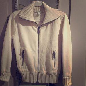 Warm cozy zipper fleece sweater